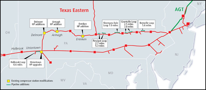 Texas Eastern TEAM 2014 Project Map